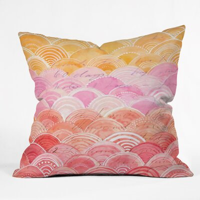 Cori Dantini Warm Spectrum Rainbow Throw Pillow Size: 20 H x 20 W x 5 D