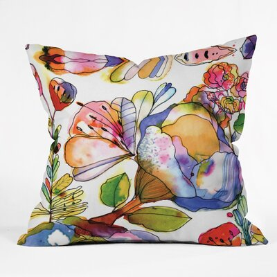 CayenaBlanca Blossom Pastel Throw Pillow Size: Large