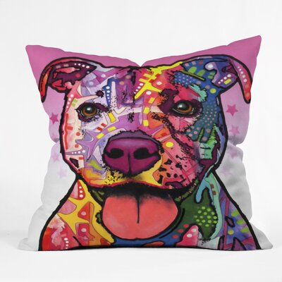 Dean Russo Cherish The Pitbull Throw Pillow
