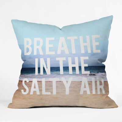 Leah Flores Breathe Indoor/Outdoor Throw Pillow Size: Small