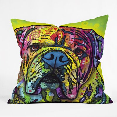 Dean Russo Hey Bulldog Throw Pillow Size: Small