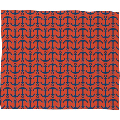 Andrea Victoria Ahoy Anchors Throw Blanket Size: Large