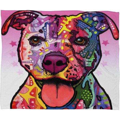 DENY Designs Dean Russo Cherish The Pitbull Fleece Throw Blanket
