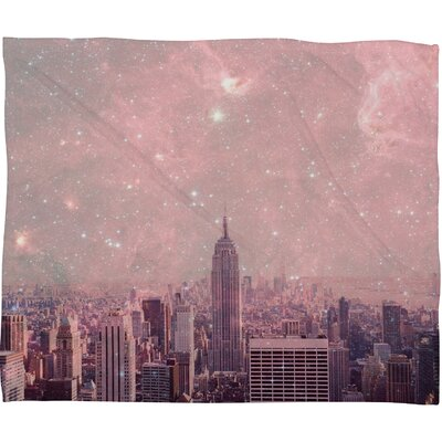 Bianca Green Stardust Covering New York Throw Blanket Size: Large