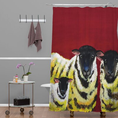 Clara Nilles Lemon Spongecake Sheep Shower Curtain