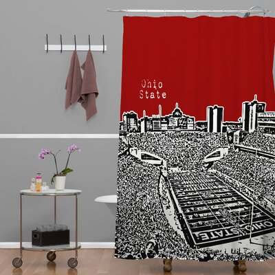 Bird Ave Ohio State Buckeyes Shower Curtain
