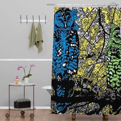 Romi Vega Bright Owl Shower Curtain