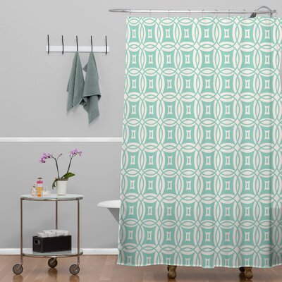 Banda Desert Twilight Shower Curtain Color: Blue Twilight