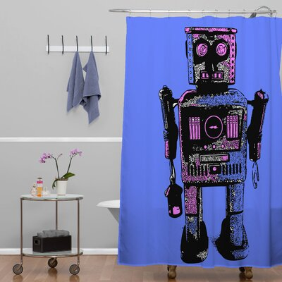 Romi Vega Lantern Robot Shower Curtain