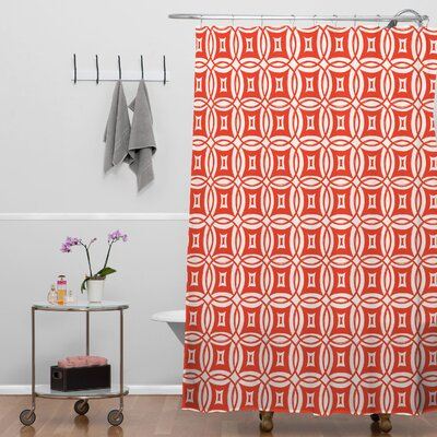Banda Desert Twilight Shower Curtain Color: Orange Twilight 9