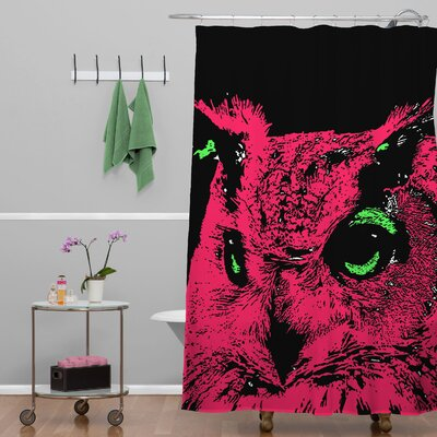 Romi Vega Owl Shower Curtain