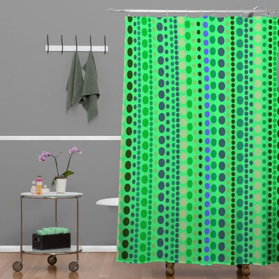 Romi Vega Retro Shower Curtain