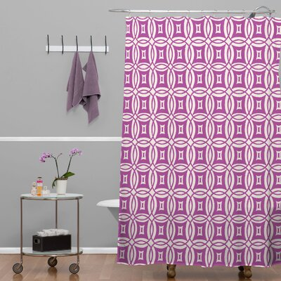 Banda Desert Twilight Shower Curtain Color: Purple Twilight 12