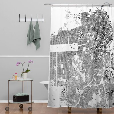 CityFabric Inc San Francisco Shower Curtain Color: White