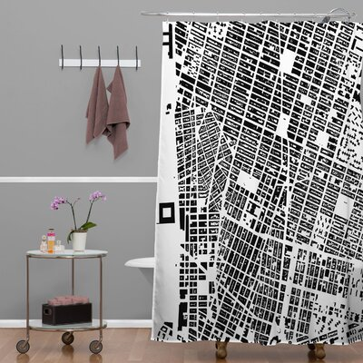 CityFabric Inc NYC Shower Curtain Color: White