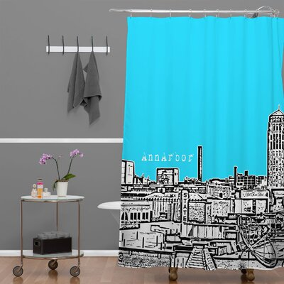 Bird Ave Ann Arbor Shower Curtain Color: Sky