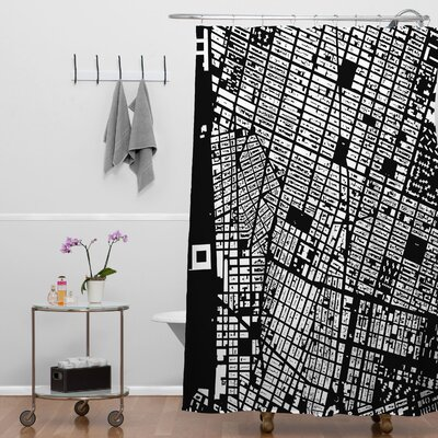 CityFabric Inc NYC Shower Curtain Color: Black