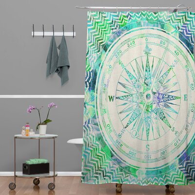 Bianca Green Follow Your Own Path Mint Shower Curtain