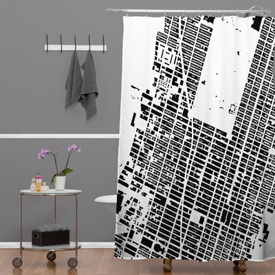 CityFabric Inc NYC Midtown Shower Curtain Color: White