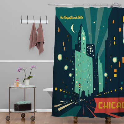 Anderson Design Group Chicago Mag Mile Shower Curtain