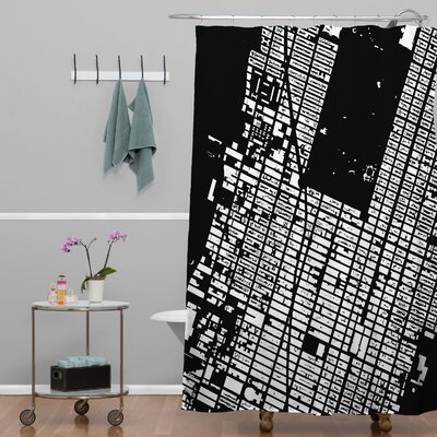 CityFabric Inc NYC Midtown Shower Curtain Color: Black