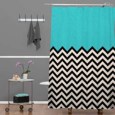 Bianca Green Shower Curtain Color: Blue Sky