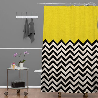 Bianca Green Shower Curtain Color: Yellow Sun