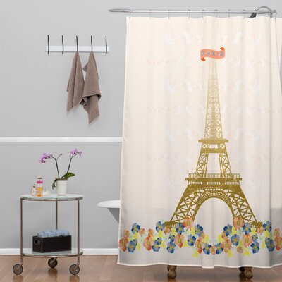 Jennifer Hill Paris Eiffel Tower Shower Curtain