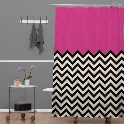 Bianca Green Shower Curtain Color: Pink Heart