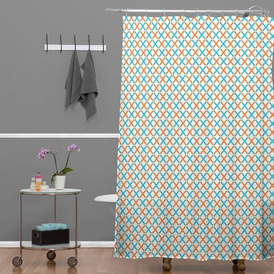 Tammie Bennett X Check Shower Curtain