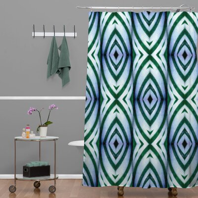 Wagner Campelo Maranta Shower Curtain Color: White Maranta 1
