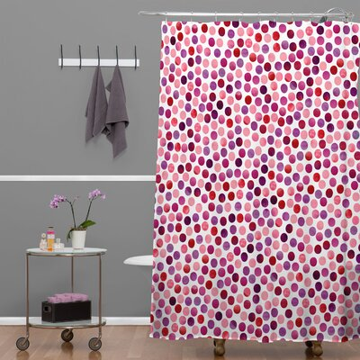 Garima Dhawa Dots Berry Shower Curtain