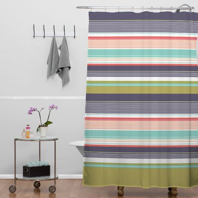 Wendy Kendall Multi Stripe Shower Curtain
