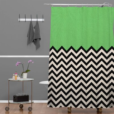 Bianca Green Shower Curtain Color: Green Way