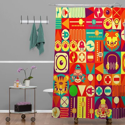 Chobopop Elecro Circus Shower Curtain