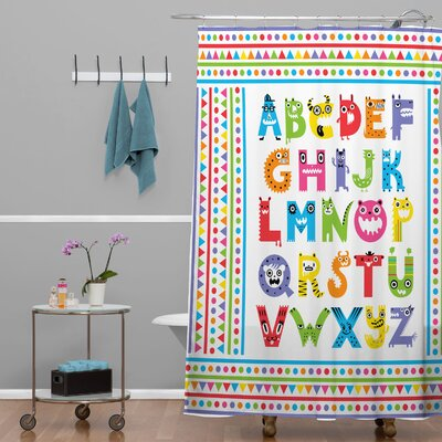 Andi Bird Alphabet Monsters Shower Curtain