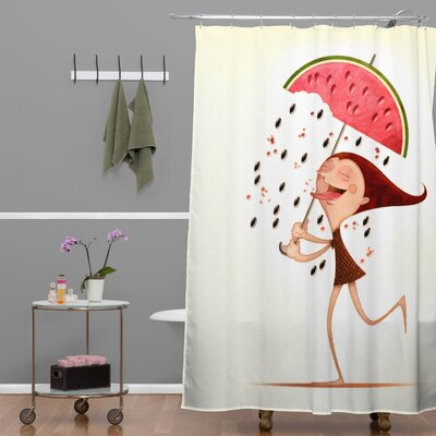 Jose Luis Guerrero Watermelon Shower Curtain