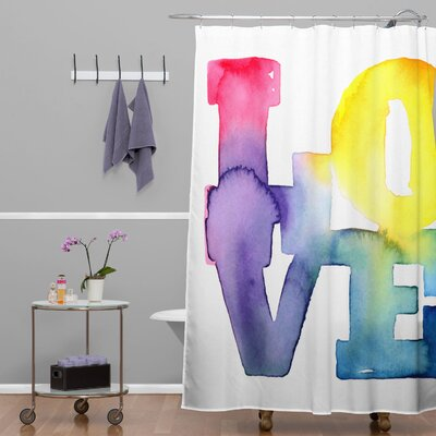 CMYKaren Love 4 Shower Curtain