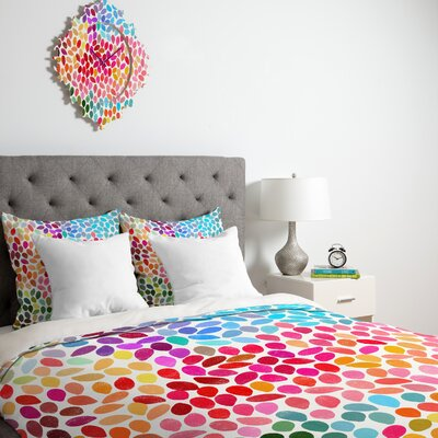 Garima Dhawan Rain Duvet Cover Size: Queen, Fabric: Lightweight