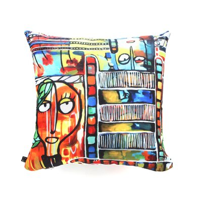 Robin Faye Gates Musical Chairs Throw Pillow Size: 18 x 18