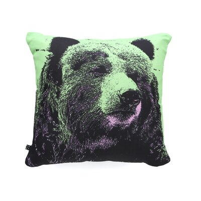 Romi Vega Bear Throw Pillow Size: 18 x 18