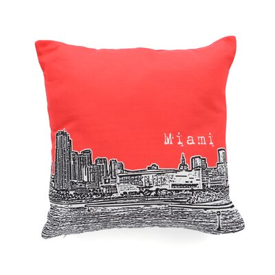 Bird Ave Miami Throw Pillow Color: Red, Size: 16 x 16