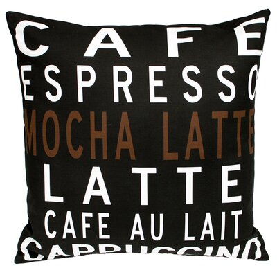 Caf� Throw Pillow