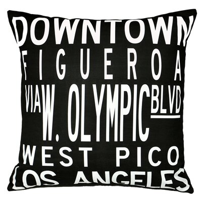 Dowtown LA Throw Pillow