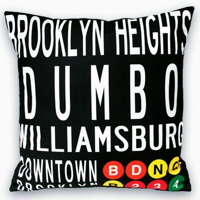 Downtown Brooklyn Throw Pillow
