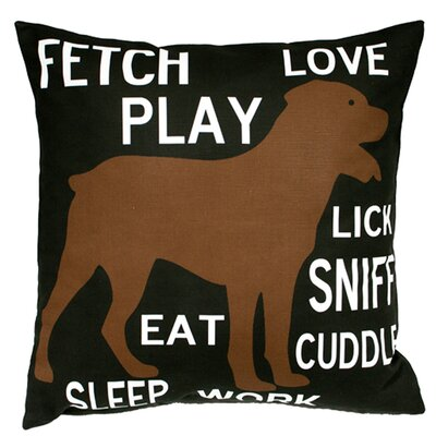Fetch Play Love Throw Pillow