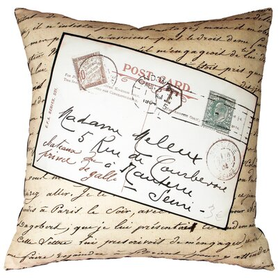 French Vintage Postcard Throw Pillow