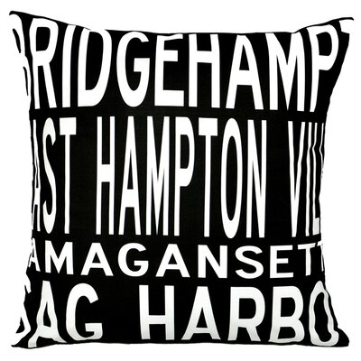 Hamptons 4 Line Throw Pillow