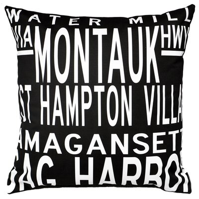 Hamptons 5 Line Throw Pillow