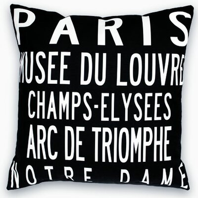 Paris Landmarks Throw Pillow